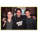 Kevin Mitnick met Lamo (l) en Poulsen (r)
